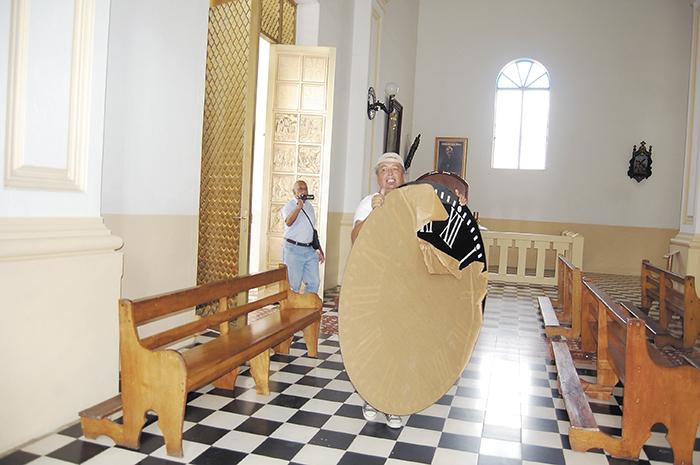 Parte de las carátulas para el reloj de la Catedral San Juan de Jinotega. LA PRENSA/S. RUIZ