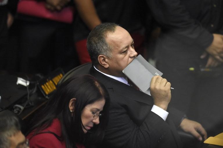 Diosdado Cabello. LA PRENSA/ AFP / JUAN BARRETO