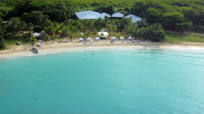 Arena's Beach, en Corn Island. De esta playa zarpó La Reina del Caribe a las 9:00 a.m. con dirección a la islita, antes de naufragar. LA PRENSA/Jorge Torres.