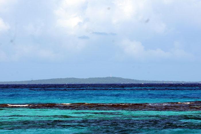 Vista de Little Corn Island desde la isla grande. LA PRENSA/Jorge Torres.