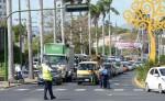 La Policía de Tránsito desplegó mayor personal por las calles de Managua   y advierte que vehículos de quienes infrinjan la ley serán conducidos al Depósito Municipal. LA PRENSA/ J. FLORES