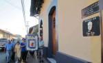 En la casa donde murió Rubén Darío fue colocada una placa en honor al poeta. LA PRENSA/EDDY LÓPEZ