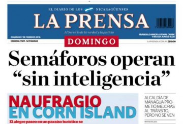 Portada de La Prensa – 07.02.2016