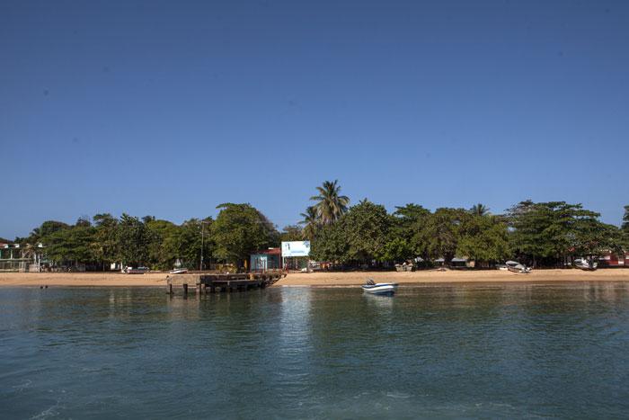 Muelle de Little Corn Island, desde donde salió la lancha que naufragó. LA PRENSA/Jorge Torres.