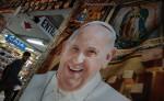 Imagen del Papa Francisco cerca a la Basílica de Guadalupe, en Ciudad de México.  LA PRENSA/EFE