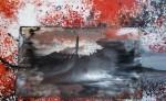 Erupción , pintura  abstracta de Guillermo Barraza. LAPRENSA/CORTESIA