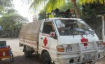 Cruz Roja Granada solo cuenta con un camión y ante la falta de ambulancias  a veces lo usan para atender emergencias. LA PRENSA/LUCÍA VARGAS