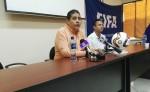 Ildefonso Agurcia durante la conferencia de prensa. LAPRESNA/ JNM.