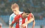 Sevilla empató ayer 2-2 con el Celta de Vigo, pero el 4-0 de la ida les había asegurado la clasificación. LA PRENSA/ AFP