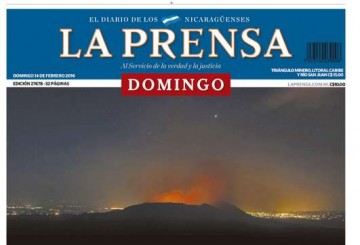 Portada de LA PRENSA Nicaragua 14/2/2016
