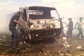 Camión de basura calcinado en Ocotal