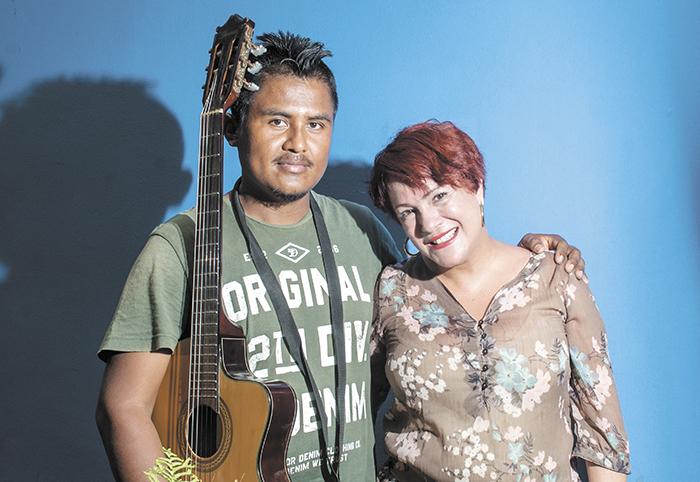 El año pasado Juan Carlos Ocampo fue invitado por la cantante Keyla Rodríguez en un concierto en Managua.  LA PRENSA/ARCHIVO