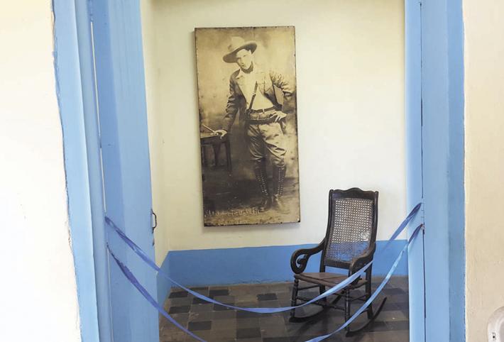 El dormitorio que Sandino compartía con su hermano Sócrates, en la casa de su padre Gregorio Sandino en Niquinohomo, hoy convertida en museo. LA PRENSA/ CORTESÍA