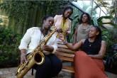Jazz de mujeres en tono afro