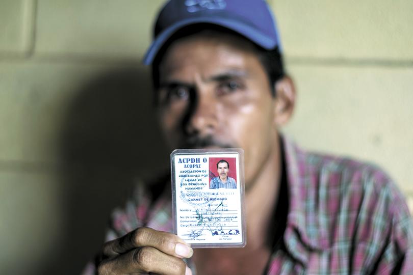 Andrés Cerrato, campesino de Ayapal. LA PRENSA/OSCAR NAVARRETE