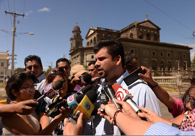 El verdadero secretario de la comuna Fidel Moreno, en una actividad pública del año pasado.