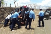 Policías heridos en accidente