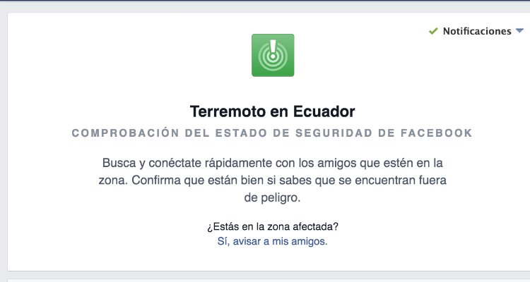 Facebook cuenta con la herrramienta Safety Check, que avisa a tus contactos en esta red sobre tu estado en una catástrofe. Foto tomada del sitio web de Clases de Periodismo.