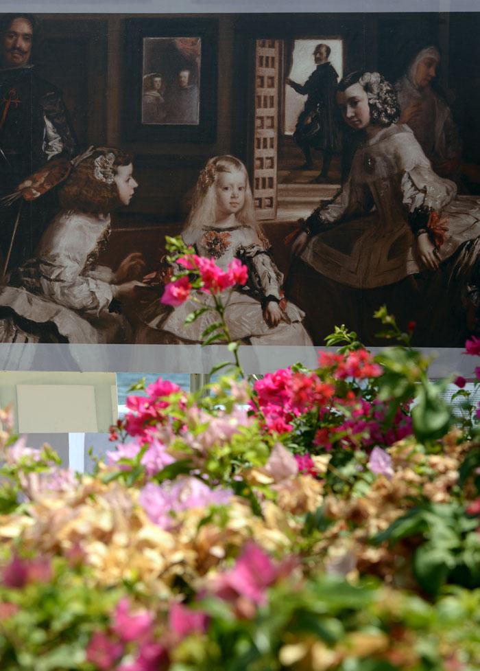 """La reproducción de """"Las Meninas"""", de Diego Velázquez, bajo el sol de la capital de Nicaragua. LA PRENSA/Uriel Molina."""