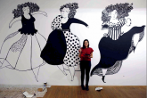 Ilustradores iberoamericanos llevan a Cervantes las paredes de Casa América
