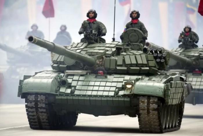 Los tanques rusos son similares a los que posee la Armada de Venezuela. Foto tomada del Ministerio del Poder Popular para la Defensa de Venezuela. LA PRENSA/Agencias.