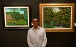 Carlos García Jiménez, exhibe su restrospectiva de paisajes primitivistas.LAPRENSA/LISSA VILLAGRA