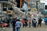 Sobrevivir entre los escombros, el reto a diario en la zona cero de Ecuador