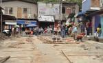 Unas diez viviendas son las afectadas por la reconstrucción del anexo al mercado en Boaco.  Los pobladores aseguran que no les quedará espacio para salir de sus hogares. LA PRENSA/M. RODRÍGUEZ
