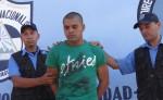 Michael Adrián Salmerón Silva, de 24 años, nicaragüense sospechoso de asesinato múltiple en Costa Rica, fue presentado en la Dirección de Auxilio Judicial Nacional (DAJ), luego de ser capturado en Las Mojarras, San Francisco Libre, Nicaragua. LA PRENSA/WILIH NARVÁEZ
