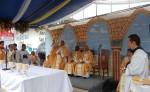 La comunidad católica se unió a la celebración de las bodas de plata de la Diócesis de Jinotega, en compañía de la conferencia episcopal. LA PRENSA/S.RUIZ