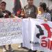 """""""No más despidos ilegales"""", pide sindicato en marcha de la CST"""