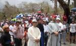 rupos de peregrinos suben  a la cúspide del Apante en Matagalpa,  en un viacrucis por la paz en la familia. LA PRENSA/ARCHIVO/L.E. MART͍NEZ M.