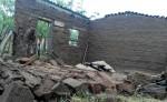 Algunas casas construidas de adobe resultaron dañadas por las lluvias. LA PRENSA/CORTESÍA