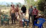 Los campesinos de El Porvenir,  en Teotecacinte, municipio de Jalapa, lamentan que solo tengan el no de las financieras y poco conocimiento de la Ley de Régimen de Fronteras. LA PRENSA/CORTESÍA