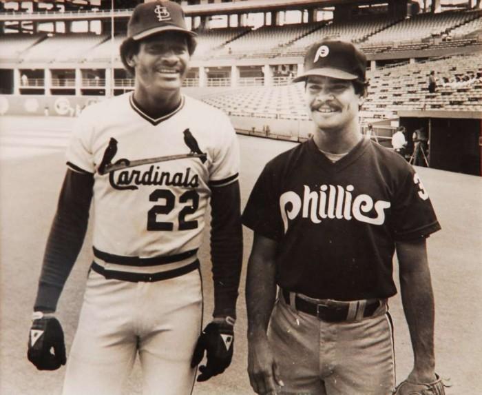 David Green (izquierda) y Porfirio Altamirano (derecha), dos de los 14 peloteros nicaragüenses que han llegado a Grandes Ligas.