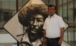 Róger Pérez de la Rocha exhibe sus pinturas  en Hispamer, hasta el próximo martes 31 de mayo. /La Prensa:Jorge Torres /La Prensa:Jorge Torres