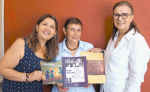 Presentan sus revistas y libro, Mónica Muñoz, de Argentina,   Violeta Pinto y Clara del Carmen Guillén, de México. LAPRENSA/ARNULFOAGÜERO