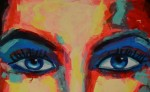 Rostro, pintura de Verona Peñalba / LAPRENSA/ CORTESÍA