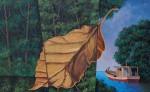 Caida de la hoja seca. pintura de Tito Chamorro. LAPRENSA/CORTESÍA
