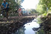 Insoportables charcos de aguas negras