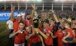 Real Estelí celebra el título de campeón de Clausura. LAPRENSA/ JORGE TORRES