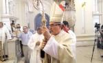 Monseñor Bosco Vivas Robelo celebró el miércoles, junto a su clero y feligresía, sus 25 años de estar presidiendo como obispo de la Diócesis de León. LA PRENSA/ EDDY LÓPEZ