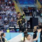 Alicia Keys y Andrea Bocelli en la final de la Liga de Campeones