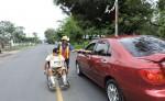 Beymar Eugenio Ortiz Espinoza quedó en silla de ruedas tras sufrir un accidente en Dolores. LA PRENSA/M.GARCÍA