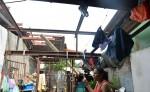 Un tornado arrancó el techo de la casa de Johanna Baldizón, en Villa Venezuela. Aunque habitan cinco adultos y dos niños, solo se reportaron daños materiales. LA PRENSA/J Flores