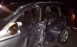 Edwin Ramón Peralta Pineda, se estrelló con su motocicleta contra este vehículo. Peralta es el segundo motociclista que pierde la vida por accidente de tránsito en Léon en una semana. LA PRENSA/E. LÓPEZ