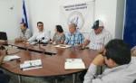 Faganic junto a propietarios de fincas afectados por grupos de toma tierras denuncian en la CPDH. LA PRENSA/ E . ROMERO LA PRENSA/E. ROMERO