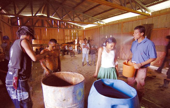Cuando en una comunidad hay brotes de grisi siknis, se efectúan rituales para proteger a los saludables y para sanar a los enfermos. LA PRENSA/Oscar Navarrete.