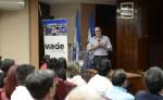 La charla fue dictada por Gerardo Argüello, gerente general de Bolsa de Valores de Nicaragua. La Prensa/ Luis Gutiérrez