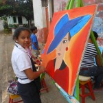 Rostros pintados por talentos infantiles y juveniles de Rivas